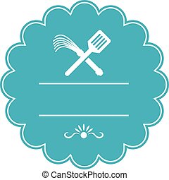 Spatula Flogger Whip Crossed Rosette Retro - Illustration of...