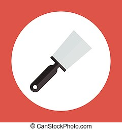 Spatula Icon Working Hand Tool Equipment Concept Vector...