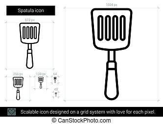 Spatula line icon.