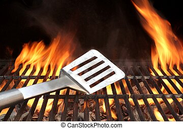 Spatula on the Barbecue Grill