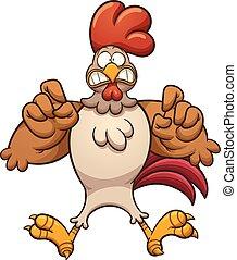 spaventato, pollo