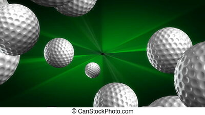 Spawn of Golf Balls Background 4K (seamless)