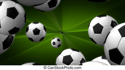 Spawn of Soccer Balls Background 4K (seamless)