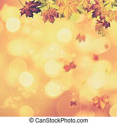 spazio, astratto, sfondi, autunnale, fall., disegno, copia, tuo