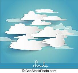 spazio, astratto, text., bolle, tuo, nuvola