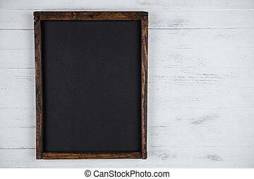 spazio, legno, lavagna, fondo, vuoto, bianco, copia