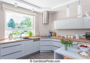 spazio luminoso, -, cucina