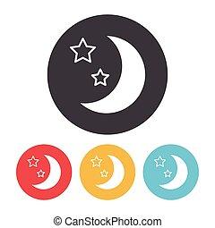 spazio, luna, icona