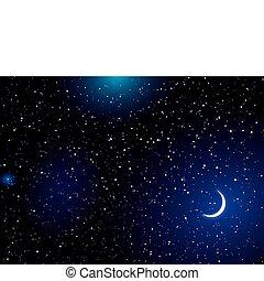 spazio, paesaggio, luna