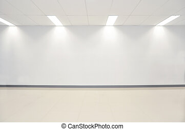 spazio, parete, foto, contemporaneo moderno, floor., gallery., concreto, esposizione, bianco, aperto, vuoto