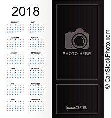 spazio, semplice, foto, posto, 2018, sagoma, calendario, copia