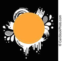 spazio, testo, astratto, sfondo nero, arancia