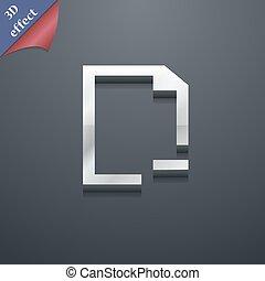 spazio, testo, moderno, simbolo., togliere, style., trendy, vettore, disegno, cartella, 3d, tuo, icona