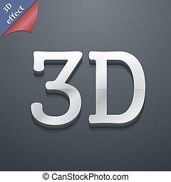 spazio, testo, moderno, simbolo., trendy, vettore, 3d-style., disegno, icona, tuo, 3d