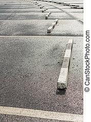 spazio vuoto, in, uno, parcheggio