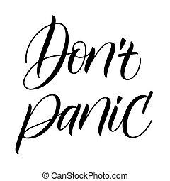 spazzola, calligrafia, panico, non faccia