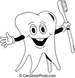 spazzola, dente