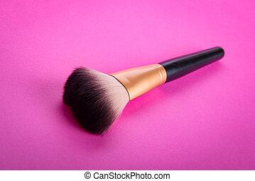 spazzola, per, applicare, cosmetico, trucco