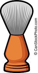 spazzola rasatura, (barber, brush)