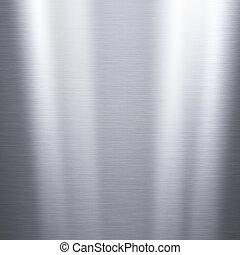 spazzolato, alluminio, metallico, piastra
