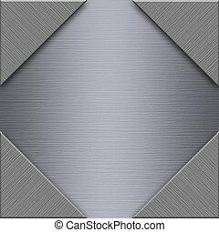 spazzolato, alluminio, piastra metallo
