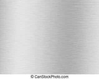 spazzolato, argento, fondo, metallico