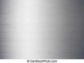 spazzolato, argento, metallico, fondo