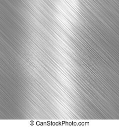 spazzolato, metallico, acciaio, piastra