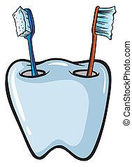 spazzole, supporto, spazzola