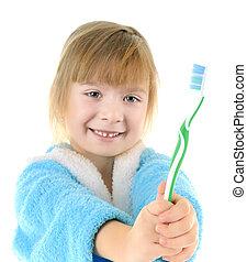 spazzolino, bambino
