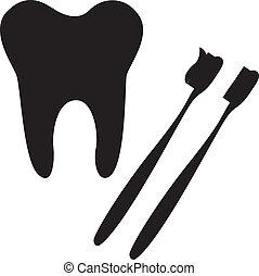 spazzolino, dente