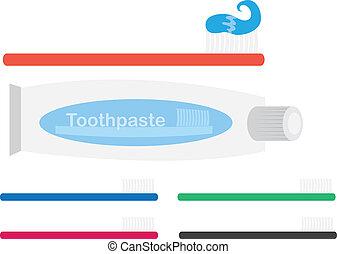 spazzolino, dentifricio