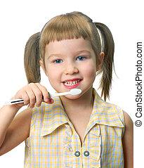 spazzolino, ragazza