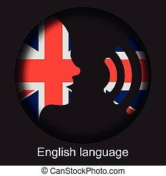 Speak English - United Kingdom - voice icon - Flag of the ...