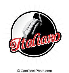 Speak Italiano Badge