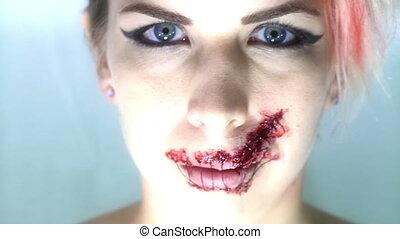 Speak no Evil Camera Flirt Horror Concept shot hand held