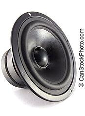 Speaker - A loudspeaker driver, isolated on white...
