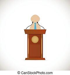 Speaker and Podium Illustration