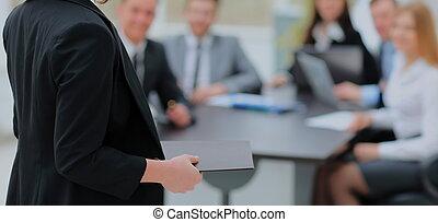 Speaker at Business Conference