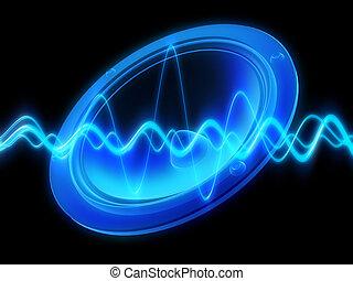 speaker, audiowave