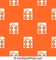 Speaker box pattern vector orange