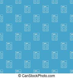 Speaker box pattern vector seamless blue
