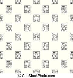 Speaker box pattern vector seamless