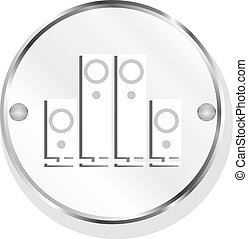Speaker. Button. icon isolated on white background