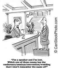 Speaker - Cartoon about a very lost speaker.