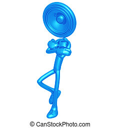 Speaker Head Leaning - 3D Concept And Presentation Figure
