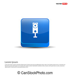 Speaker Icon - 3d Blue Button