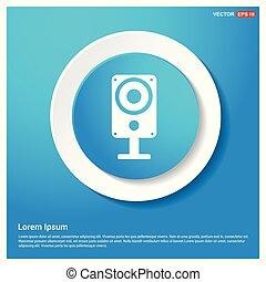 Speaker Icon Abstract Blue Web Sticker Button