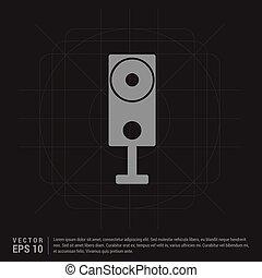 Speaker Icon - Black Creative Background