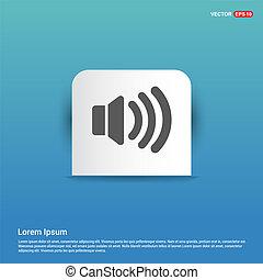 speaker icon - Blue Sticker button